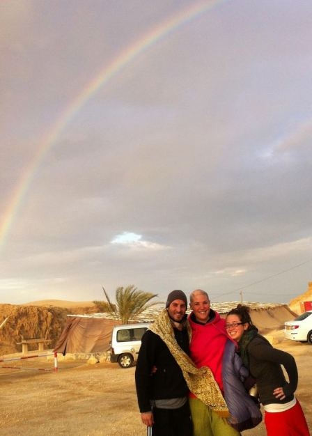 Joseph, Heather and I. It rains 5 days a year in the South, and it rained a heavy storm while we were there.  Shifts are happening! Love is everywhere!