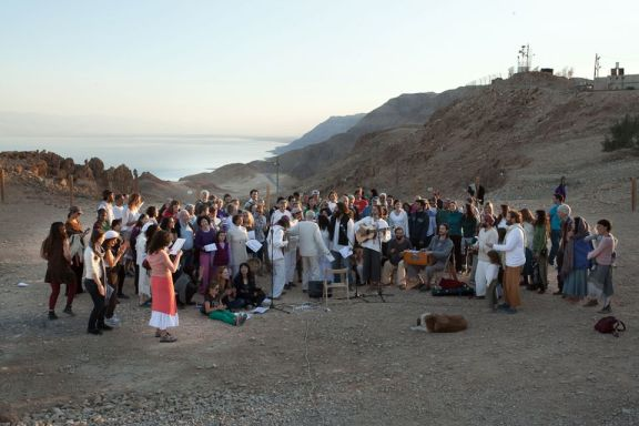 We really got funky with our singing of Shalom and Salam Aleikum at the Dead Sea. We also sang Shir LaShalom with the man who wrote the song! <3