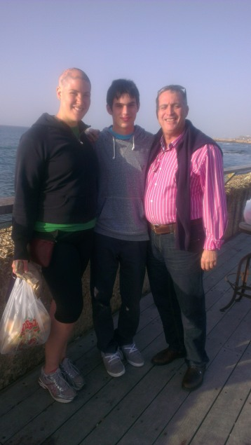 My cousins and I at the Tel Aviv Port