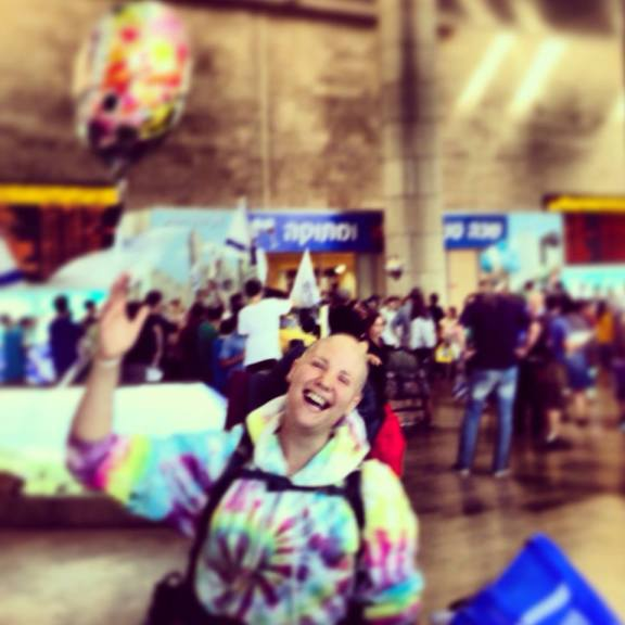 Me, at Ben Gurion Airport after landing in Israel!