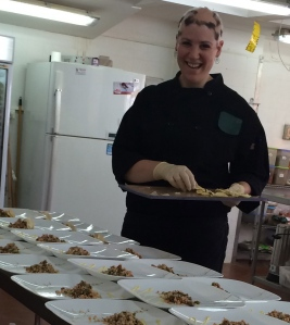 Me plating lunch :)