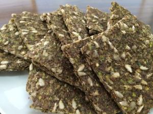 Zucchini, sunflower seeds, flax, basil, thyme, Himalayan Pink Salt