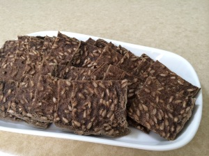 Zucchini Flax Crackers